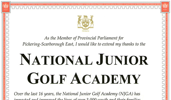 NJGA Certificate